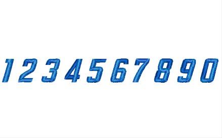 134 数字(イタリック型)