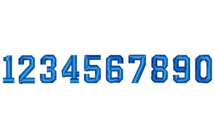 136 数字(フルブロック型)